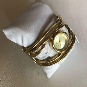 Gold Wrap Watch Bracelet